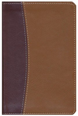 NIV Compact Thinline Reference Bible, Italian Duo-tone, burgundy/tan 1984  -