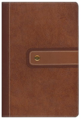 NIV Archaeological Study Bible Cashew/Caramel bonded leather 1984 - Imperfectly Imprinted Bibles  -
