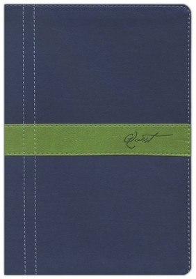 NIV Quest Study Bible, Soft leather-look, Marine blue/Meadow green 1984  -