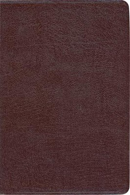 Zondervan NIV Study Bible, Bonded Leather, Burgundy - Slightly Imperfect  -