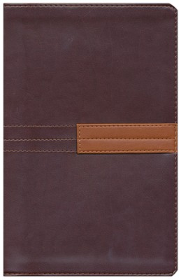 Zondervan NIV Study Bible, Personal-Size--Burgundy/Rust (Soft leather-look) - Slightly Imperfect  -