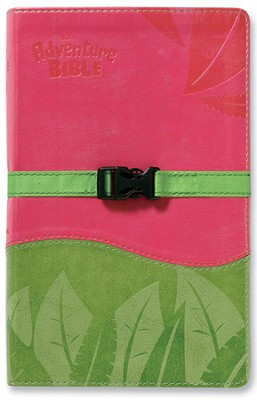 Adventure Bible, NIV Updated, Clip Closure, Italian Duo-Tone, Pink/Green 1984  -