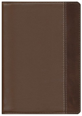 NIV Study Bible, Compact Edition--Renaissance fine leather, rich brown/espresso 1984  -