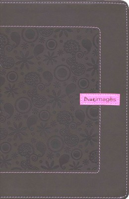 NIV (1984) True Images: The Bible for Teen Girls--soft  leather-look, chocolate paisley/bubble gum   -