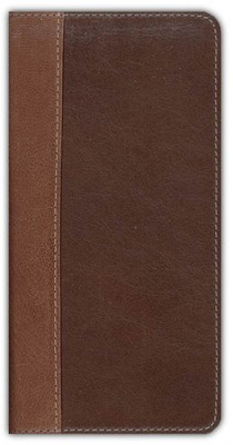 NIV Trimline Bible, Renaissance Fine Leather, Sienna/Espresso 1984  -
