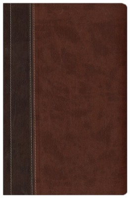 NIV Archaeological Study Bible, Large Print Hardcover/Duo-Tone Chocolate/Dark Caramel 1984 - Imperfectly Imprinted Bibles  -