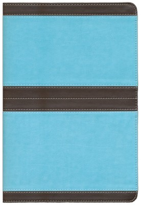 NIV Life Application Study Bible, soft leather-look--chocolate/turquoise 1984  -