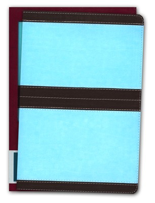 NIV Life Application Study Bible, soft leather-look--chocolate/turquoise 1984, Case of 12  -
