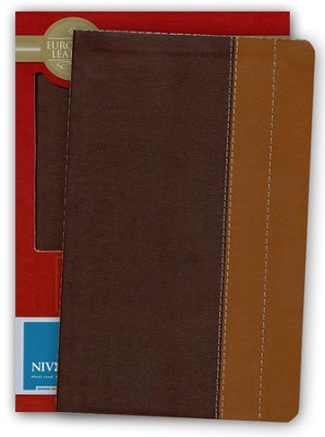 NIV Life Application Study Bible, Personal Size, European Leather, Chocolate/Tan 1984, Case of 12  -