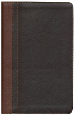 NIV Life Application Study Bible, Personal Size, European Leather, Dark Caramel/Espresso 1984 - Imperfectly Imprinted Bibles  -