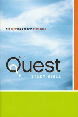 NIV Quest Study Bible: The Question and Answer Bible, Hardcover - Imperfectly Imprinted Bibles  -