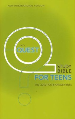 NIV Quest Study Bible for Teens: The Question and Answer Bible, Hardcover  -