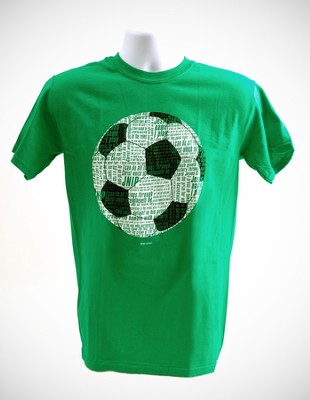 Soccer Word Shirt, Green, Medium  -