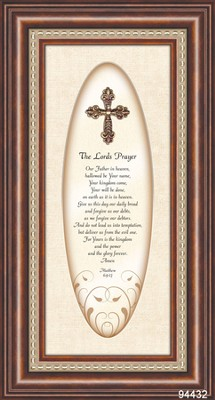 The Lord's Prayer with 3D Cross Framed Print  -