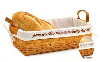 Personalized, Give Us This Day Our Daily Bread Bread, White Lining  -