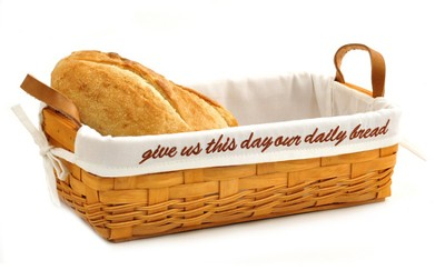 Give Us This Day Our Daily Bread, Basket w/ White Lining   -