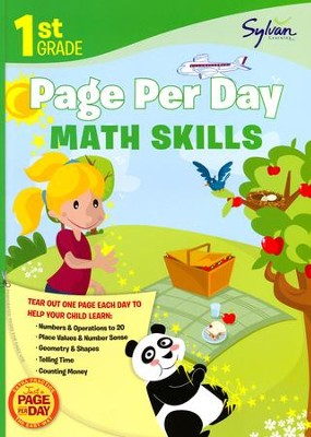 First Grade Page Per Day: Math Skills  -     By: Sylvan Learning