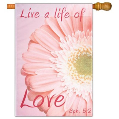 Live a Life of Love, Large Art Flag  -