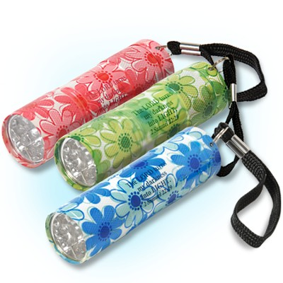 Set of three floral flashlights  -