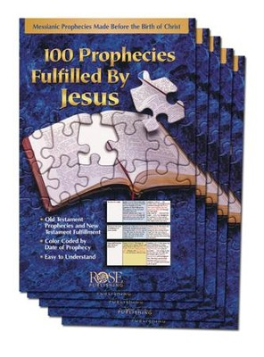 100 Prophecies Fulfilled by Jesus Pamphlet - 5 Pack   -