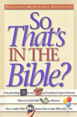 So...That's In the Bible?   -