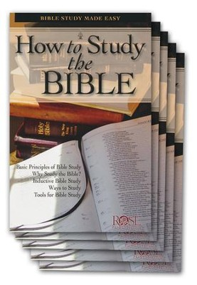 How to Study the Bible Pamphlet - 5 Pack  -
