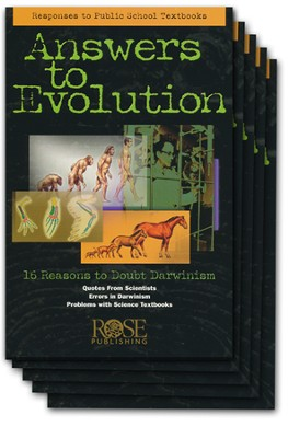 Answers to Evolution Pamphlet - 5 Pack  -