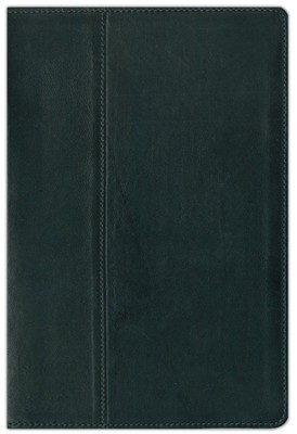 NIV Life Application &#174 Study Bible, Renaissance Fine Leather, Ebony - Slightly Imperfect  -