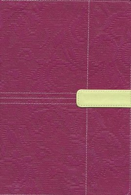 Zondervan King James Study Bible, Italian Duo-Tone, Plum/Melon Green  -