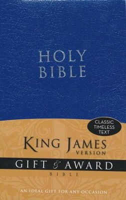 King James Version Gift & Award Bible, Blue  -