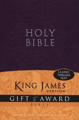 King James Version Gift & Award Bible, Purple  -