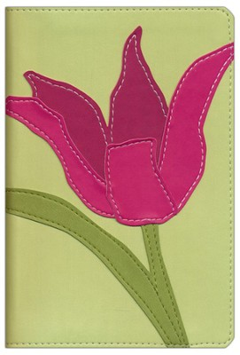 NIV Compact, Thinline Bible, Italian Duo-Tone Bloom Collection, Tulip 1984  -
