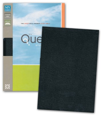 NIV Quest Study Bible: The Question and Answer Bible, Bonded Leather, Black - Imperfectly Imprinted Bibles  -