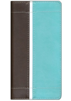 NIV Trimline Bible, Italian Duo-Tone &#153, Turquoise/Chocolate 1984  -