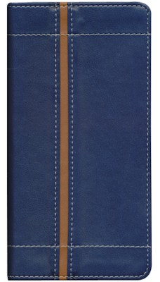 NIV Trimline Bible, Italian Duo-Tone &#153, Blue/Tan 1984  -