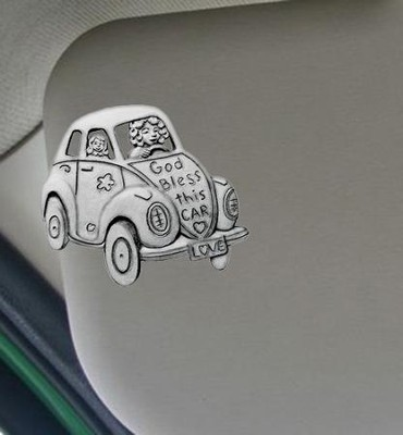 God Bless This Car--Visor Clip   -