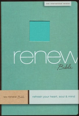 NIV Renew Bible: Refresh Your Heart, Soul & Mind Linen, Spa Green 1984  -