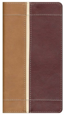 King James Version Trimline Bible, Camel Rich Red  -