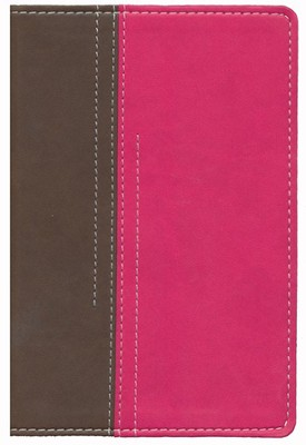 NIV Thinline Bible for Girls, Compact Chocolate/Pink Duo-Tone   -