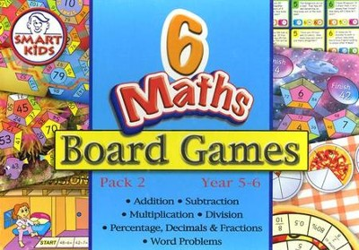 Math Board Games, Set of 6, Grades 4-5  -