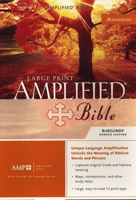 The Amplified Bible, Expanded Edition, Large Print, Bonded leather, burgundy  -
