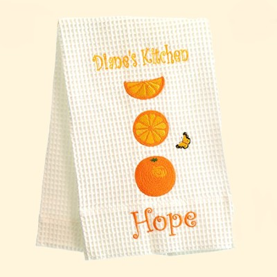 Personalized, Hope Kitchen Towel, with Oranges   -