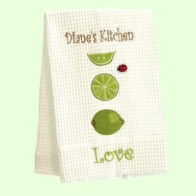Personalized, Love Kitchen Towel, With Limes   -