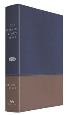 NKJV The Jeremiah Study Bible, Soft leather-look, Navy/tan   -     By: David Jeremiah