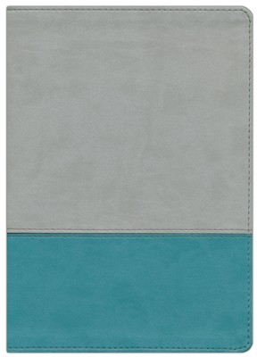 NKJV The Jeremiah Study Bible, Soft leather-look, Gray/teal   -     By: David Jeremiah