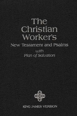 KJV Christian Workers New Testament with Psalms  - Slightly Imperfect  -
