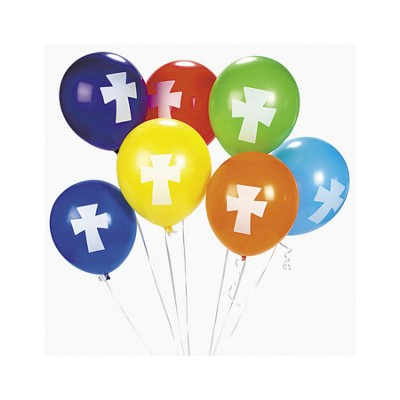 Cross Balloons, Package of 12  -