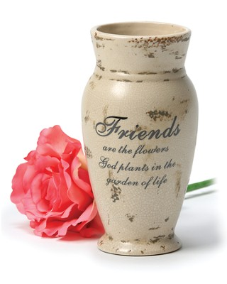Friends, Crackle Finish Vase  - Slightly Imperfect  -