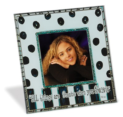 All Things, Glass Photo Frame   -