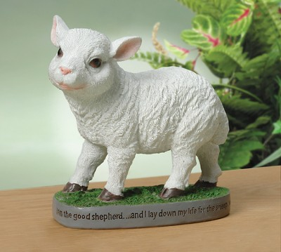 Lamb Figurine, I Am The Good Shepherd   -